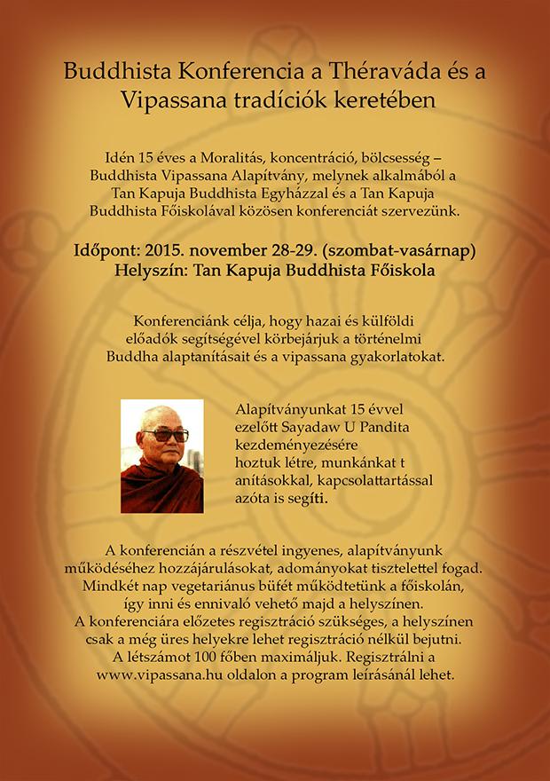 Buddhista Konferencia a Théraváda és a Vipassana tradíciók keretében